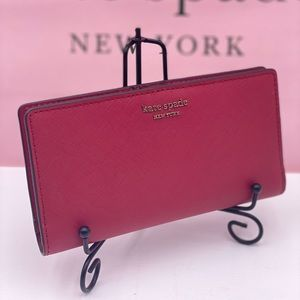 Kate Spade Slim Bifold Wallet Rosso